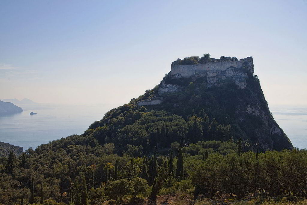 Angelokastro. It is the only castle of the island's Byzantine era and one of the best preserved castles in Greece. It maintains its secrets well kept sitting at the top of the highest peak of northwestern Corfu. It has never been conquered despite the various attempts of the past. Even the legendary pirate Barbarossa failed, back in 1537.