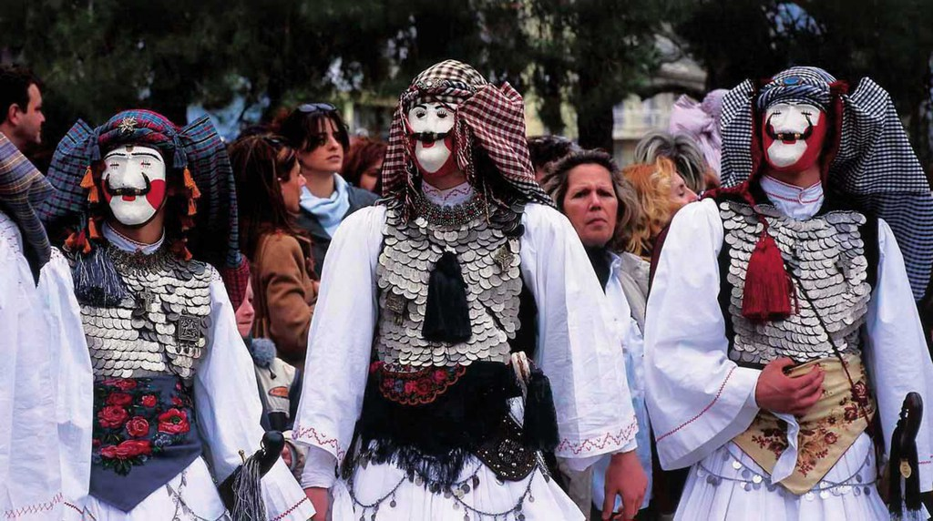 Naousa – Carnival 'Genitsaroi and Boules': a custom with a lot of history which in the passage of time has incorporated elements of the local tradition and the heroic struggles of the Greek Revolution.