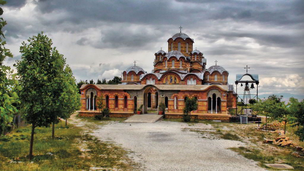 Monastery of Saints Raphael, Nikolaos and Irene. Famous monasteries attached on the slopes of Paiko: the famous Monastery of St. Raphael, Nikolaos and Irene in Griva, the Holy Monastery of Agios Nikodimos in the village Pentalofos.